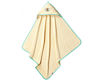 """Махровое полотенце с капюшоном после купания """"Мишка"""" 100х100см"""
