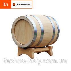Бочка дубовая для коньяка 3 литра