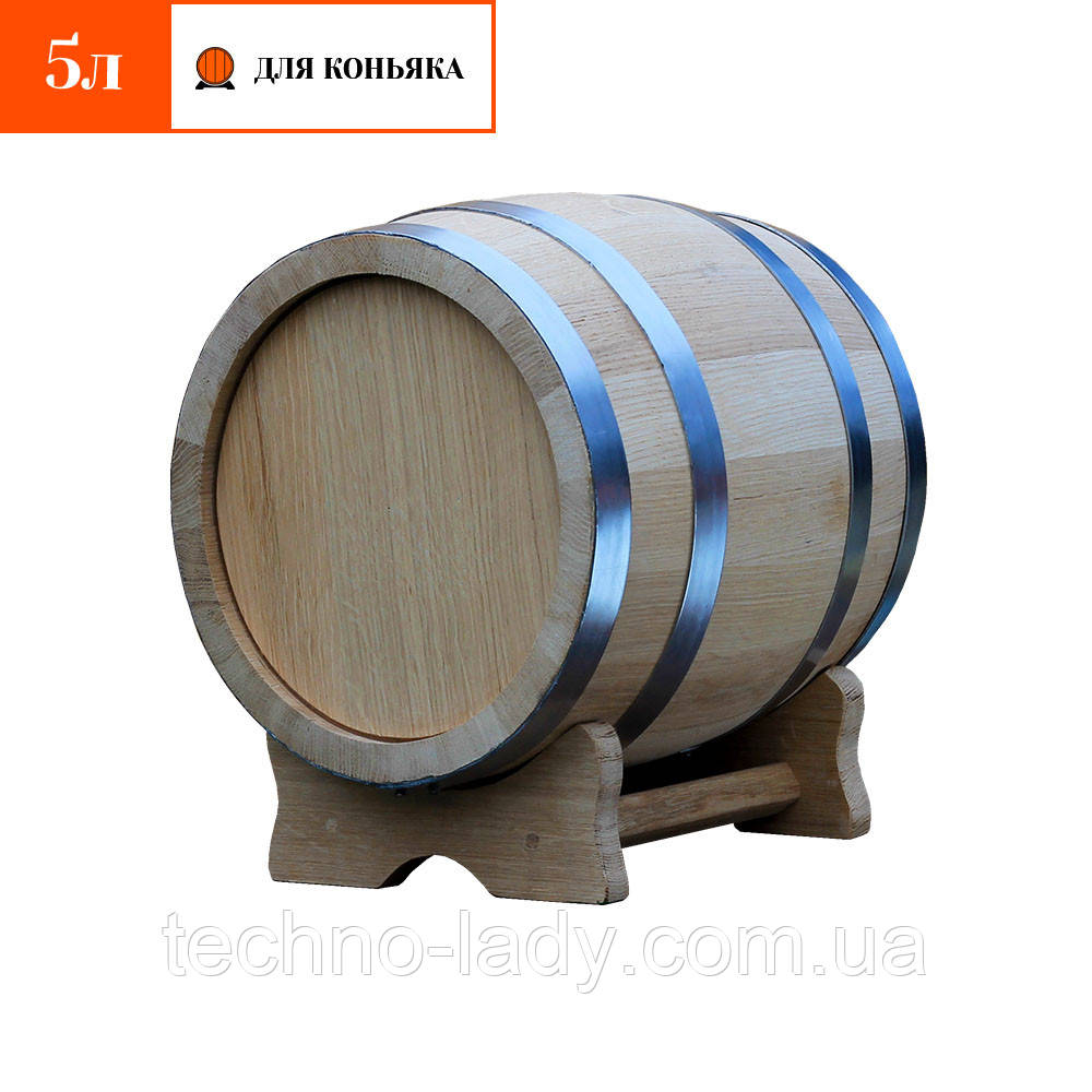 Бочка дубовая для коньяка 5 литров