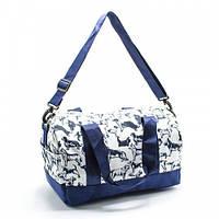 Небольшая молодежная детская спортивная дорожная сумка для девочки текстильная с рисунками