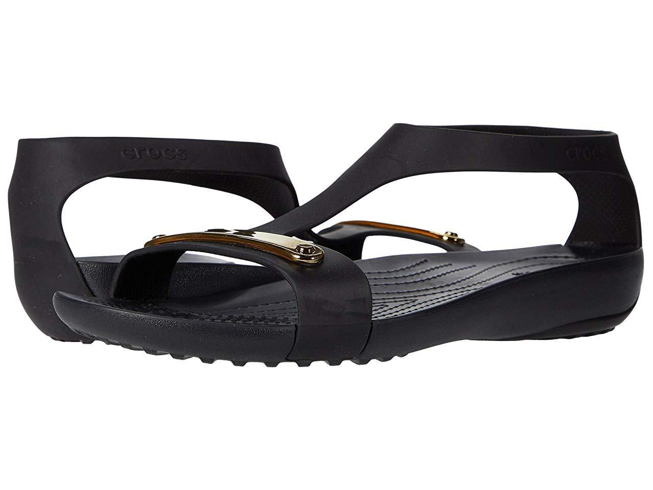 Сандали/Вьетнамки (Оригинал) Crocs Serena Metallic Bar Sandal Gold/Black