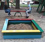 Пісочниця 1.6х1.6 м. для дитячих ігрових майданчиків KidSport, фото 2