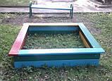 Пісочниця 1.6х1.6 м. для дитячих ігрових майданчиків KidSport, фото 3