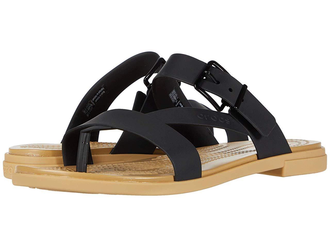 Сандали/Вьетнамки (Оригинал) Crocs Tulum Toe Post Sandal Black/Tan
