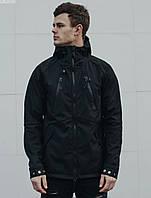 Мужская куртка легкая с капюшоном Staff soft shell black ros