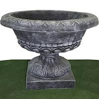 Вазон садовый для цветов «Чаша на ножке» бетонный