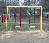 Гойдалка подвійна на жорстких підвісах для дитячих ігрових майданчиків KidSport, фото 2