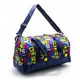 Модная женская спортивная сумка для спортзала, фитнеса, тренировок с рисунками пончики, фото 2