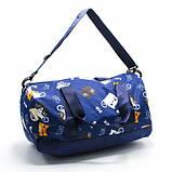 Модная женская спортивная сумка для спортзала, фитнеса, тренировок с рисунками пончики, фото 3