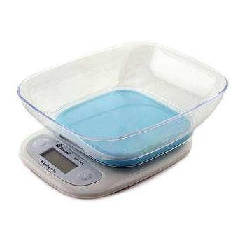 Весы кухонные Domotec ACS SH-125 до 7 кг с чашей, Blue