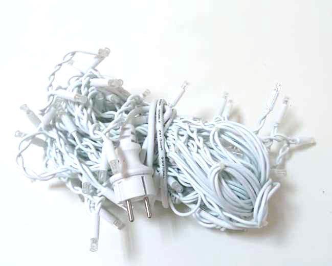 Гирлянда новогодняя сосульки MHZ LED 120 W-2 White