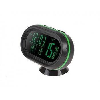 Часы термометр вольтметр автомобильные VST 7009V