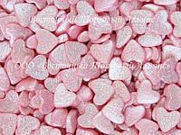 Посыпки кондитерские — Сердца розовые перламутровые