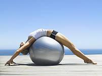 Фитбол мяч для фитнеса 65 см Profit Ball MS 1576 Silver, фото 2