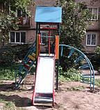 Ігровий комплекс висота гірки 1,2 м для дитячих ігрових майданчиків KidSport, фото 2