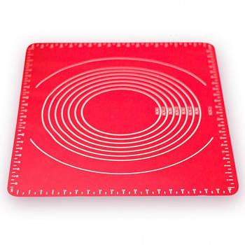 Силиконовый коврик для выпечки раскаточный 64*45*0.01см Stenson HH-667