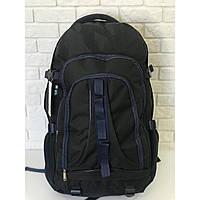 Рюкзак туристический походный VA T-02-3 65л, черный с синим