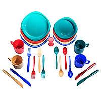 Набор посуды пластиковой на 4 персоны Tramp TRC-053, для похода, пикника, поездки