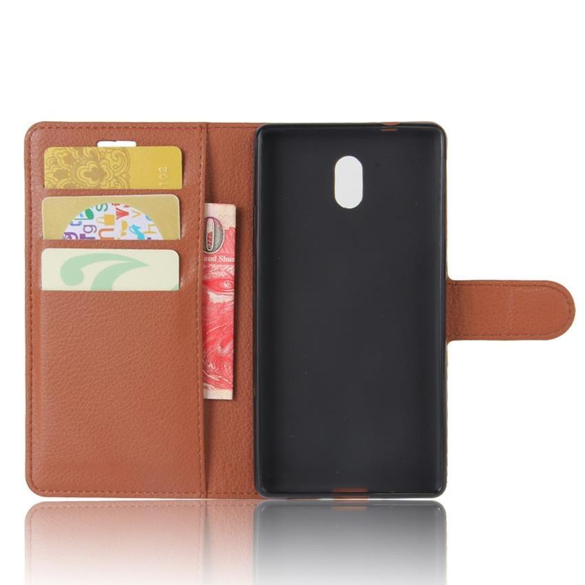 Чехол-книжка Litchie Wallet для Nokia 3 Коричневый (hub_Xbja59457)
