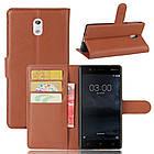 Чехол-книжка Litchie Wallet для Nokia 3 Коричневый (hub_Xbja59457), фото 2