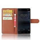 Чехол-книжка Litchie Wallet для Nokia 3 Коричневый (hub_Xbja59457), фото 3