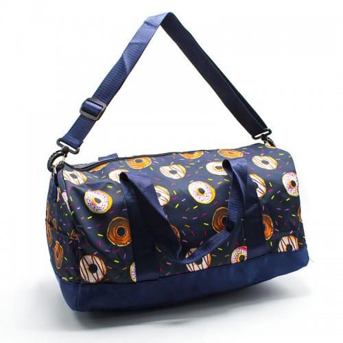 Модная женская спортивная сумка для спортзала, фитнеса, тренировок с рисунками пончики