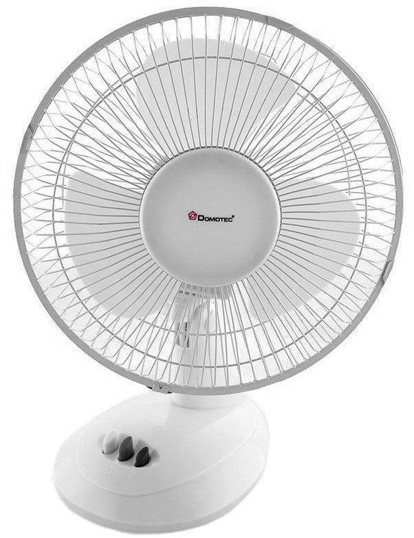 Настольный вентилятор Domotec МS-1624, белый