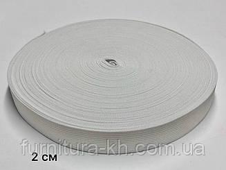 Резинка 2 см Белая в рулоне 25 метров