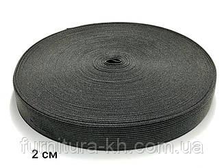 Резинка 2 см Черная в рулоне 25 метров