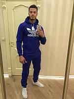 Спортивный костюм Адидас, мужской костюм Adidas, синий кенгуру, трикотажный