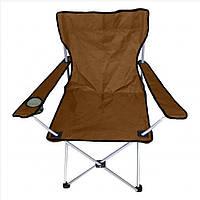 """Кресло раскладное """"Паук"""" M с подстаканником 52х52х88см R28836 - коричневый"""