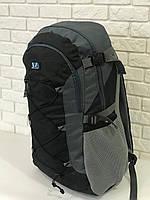 Рюкзак для туризма VA T-09-2 55л, черный с серым