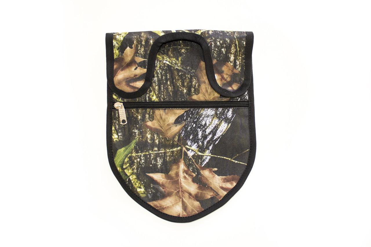 """Чехол для лопаты - сумка для находок 2 в 1 """"Два штыка"""", лес"""