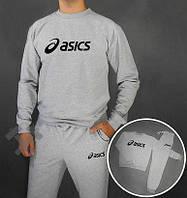 Спортивный костюм Асикс, мужской костюм Asics серый, трикотажный