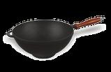 Кастрюля чугунная ВОК с деревянной ручкой без крышки. Объем 3,5 литров., фото 2