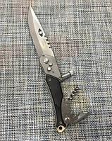 Карманный выкидной нож  АК-508 с фонариком и штопором (23см)