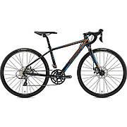 Велосипед Merida MISSION J.ROAD 4S(39cм) METALLIC BLACK(ORANGE/BLUE)