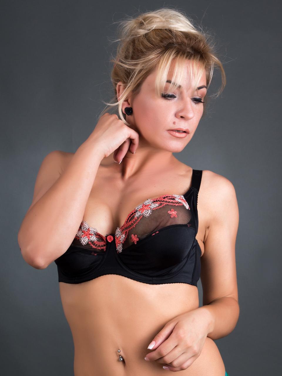 Бюстгальтер Diorella 33906E, цвет Черно-Коричневый, размер 80E