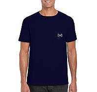 Мужская футболка Under Armour, спортивная футболка Андер Армор, хлопок, синяя