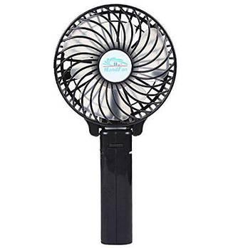 Портативный ручной вентилятор handy mini fan с аккумулятором 18650, черный
