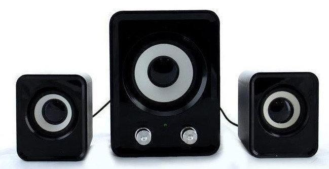 Колонки для ПК  с сабвуфером FT-202 Mini 2.1 USB, черные
