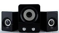 Колонки для ПК  с сабвуфером FT-202 Mini 2.1 USB, черные, фото 3
