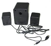 Колонки для ПК  с сабвуфером FT-202 Mini 2.1 USB, черные, фото 4