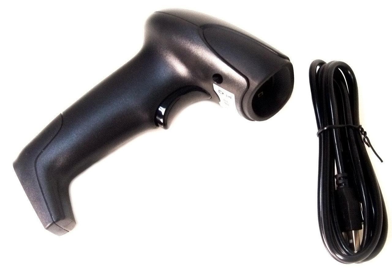 Сканер штрих-кодов беспроводной лазерный Caution 867, черный