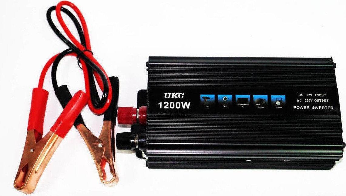 Преобразователь напряжения UKC авто инвертор 12V-220V 1200W
