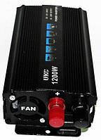 Преобразователь напряжения UKC авто инвертор 12V-220V 1200W, фото 2