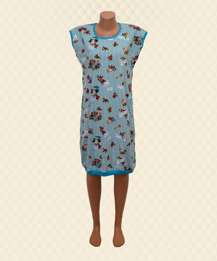 Платье женское голубой реактив