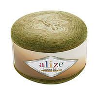 Alize Angora Gold Ombre Batik №7355 оливково- зеленый