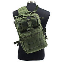 Сумка-рюкзак тактическая MHZ A92 800D 20л., олива, фото 2