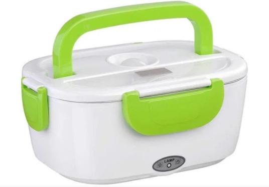 Ланч-бокс с подогревом MHZ Lunch heater box 12v, зеленый